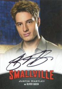 2012 Cryptozoic Smallville Seasons 7-10 Autographs A2 Justin Hartley as Oliver Queen
