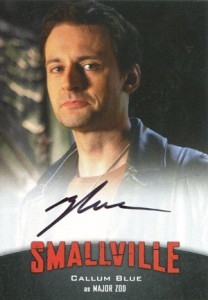 2012 Cryptozoic Smallville Seasons 7-10 Autographs A3 Callum Blue as Major Zod