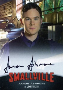 2012 Cryptozoic Smallville Seasons 7-10 Autographs A6 Aaron Ashmore as Jimmy Olsen
