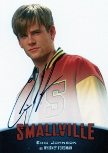 2012 Cryptozoic Smallville Seasons 7-10 Autographs A7 Eric Johnson as Whitney Fordman