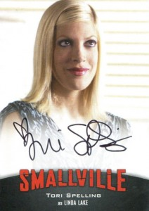 2012 Cryptozoic Smallville Seasons 7-10 Autographs Tori Spelling as Linda Lake