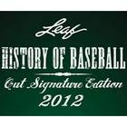 2012 Leaf History of Baseball Cut Signature Edition Baseball Cards
