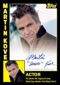 2012 Topps Archives Baseball Autographs Martin Kove