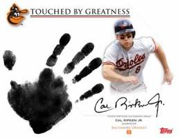 2012 Topps Archives Baseball Autographs - 2012 Topps Archives Baseball Touched by Greatness Cal Ripken Autograph