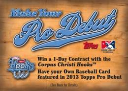 Topps to Award Collector with One-Day Corpus Christi Hooks Contract - UPDATE 1