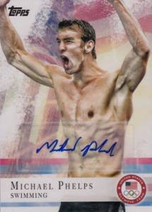 2012 Topps US Olympic Team Autographs 100 Michael Phelps