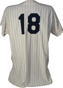 Don Larsen 1956 World Series Perfect Game Jersey Back