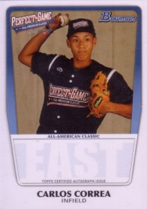 2012 MLB Draft - 2011 Bowman Perfect Game All-American Classic Carlos Correa