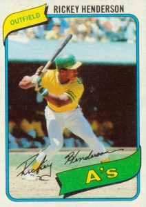 1980 Topps Baseball Rickey Henderson Rookie Card