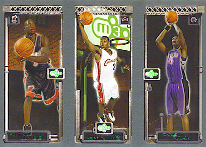 2003-04 Topps Matrix LeBron James Dwyane Wade Chris Bosh