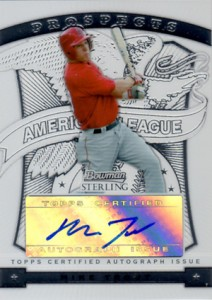 Mike Trout Cards - 2009 Bowman Sterling Autographs Mike Trout