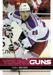 2012-13 Upper Deck Series 1 Hockey Young Guns Chris Kreider