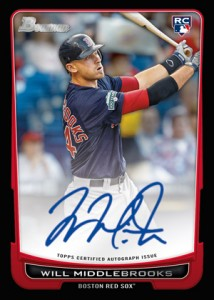 Will Middlebrooks and Trevor Bauer Autographed Rookie Cards on the Way 1