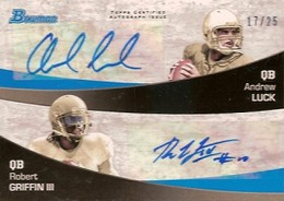 Robert Griffin III Hotter Than Andrew Luck in Early 2012 Bowman Football Sales 1