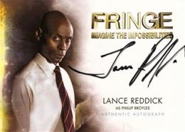 2012 Cryptozoic Fringe Seasons 1 and 2 Autographs A3 Lance Reddick as Phillip Broyles
