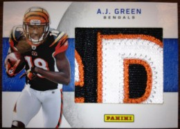 2012 Panini Father's Day 2011 NFL Draft Memorabilia AJ Green