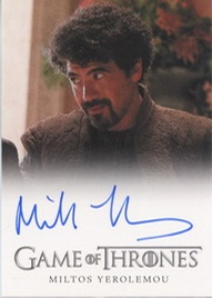 2012 Rittenhouse Game of Thrones Autographs Miltos Yerolemou Full-Bleed