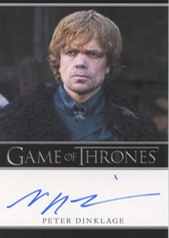 2012 Rittenhouse Game of Thrones Autographs Peter Dinklage