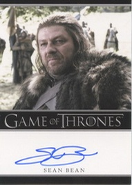 2012 Rittenhouse Game of Thrones Autographs Sean Bean