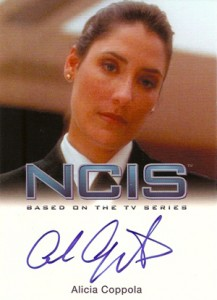 2012 Rittenhouse NCIS Autographs Alicia Coppola as Faith Coleman