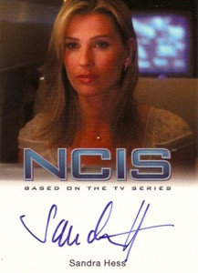 2012 Rittenhouse NCIS Autographs Sandra Hess as Regine Smidt