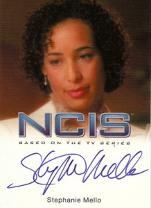 2012 Rittenhouse NCIS Autographs Stephanie Mello as Cynthia Sumner