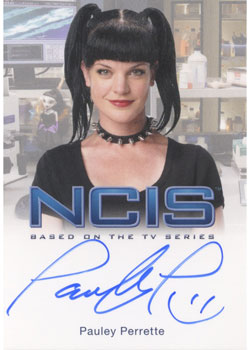 2012 Rittenhouse NCIS Premiere Edition Autographs Pauley Perrette as Abby Sciuto Image