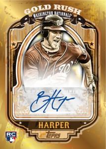 2012 Topps Series 2 Baseball Gold Rush Autographs Bryce Harper