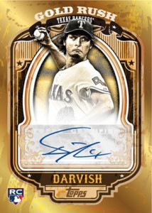 2012 Topps Series 2 Baseball Gold Rush Autographs Yu Darvish