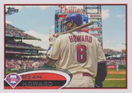 2012 Topps Series 2 Baseball Short Prints 280 Ryan Howard Variation