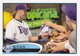 2012 Topps Series 2 Baseball Short Prints 350 Evan Longoria Variation