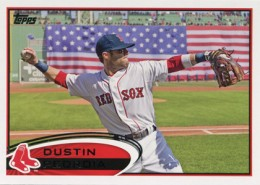 2012 Topps Series 2 Baseball Short Prints 540 Dustin Pedroia Variation