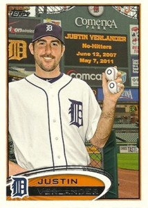 2012 Topps Series 2 Baseball Short Prints 639 Justin Verlander Variation