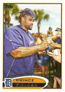 2012 Topps Series 2 Baseball Short Prints 650 Prince Fielder Variation