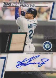 2012 Topps Series 2 Cut Above Autographed Relic Ken Griffey Jr