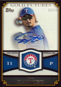 2012 Topps Series 2 Gold Futures Autograph Yu Darvish