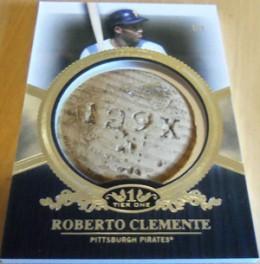 2012 Topps Tier One Baseball Bat Knob Roberto Clemente