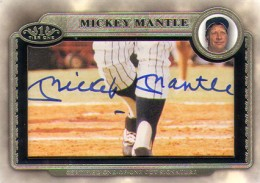 2012 Topps Tier One Baseball Mickey Mantle Cut Signature