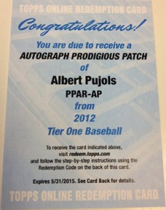 What Are the Top Selling 2012 Topps Tier One Baseball Cards? 9