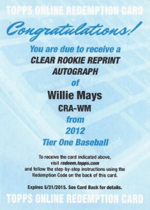 Thinking Clearly with 2012 Topps Tier One Baseball Clear Rookie Reprint Autographs 10
