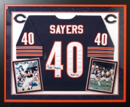 Comprehensive guide to custom jersey frames jersey frames gale sayers solutioingenieria Choice Image