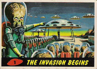 1962 Topps Mars Attacks Trading Cards 24