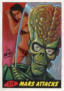 Top 10 2012 Topps Mars Attacks Sketch Card Sales 1
