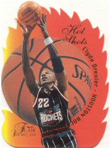 1996-97 Flair Showcase Hot Shots Clyde Drexler