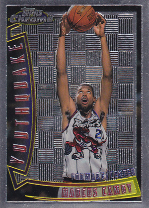 1996-97 Topps Chrome Basketball Youthquake Card