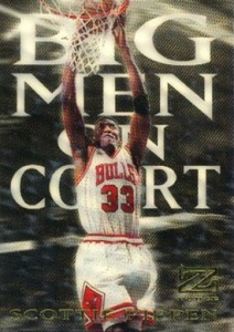 1997-98 SkyBox Z-Force Big Men on Court Scottie Pippen