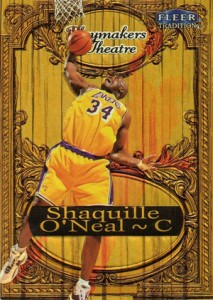 1998-99 Fleer Tradition Basketball Playmakers Theatre Shaquille O'Neal