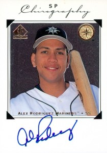 1998 SP Authentic Chirography Alex Rodriguez Autograph