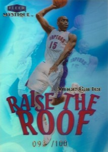 1999-00 Fleer Mystique Raise the Roof Vince Carter