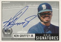 1999 Upper Deck Century Legends Epic Signatures Ken Griffey Jr Autograph